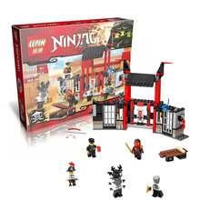 LEPIN 06034 Ninjagoes Series Phantom Ninja Justice Gate Prison Escape Bricks Building Block Minifigure Toys Best Toys