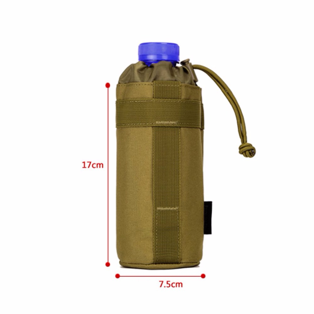 Pocket Outdoors Mineral Water Bottle Pouch Molle Travel Camp Glass Cover Woodland Sustainment Purse Bag Army Tactics Gear
