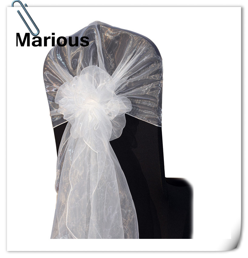 factory price with best quality !!!! Marious 100pcs organza chair Hood & Organza chair cover sash FREE SHIPPING
