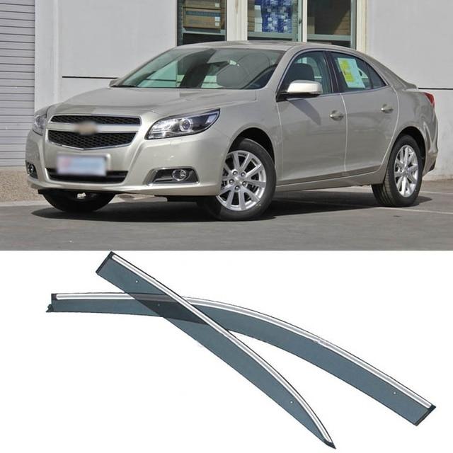 4pcs Blade Side Windows Deflectors Door Sun Visor Shield For Chevrolet Malibu