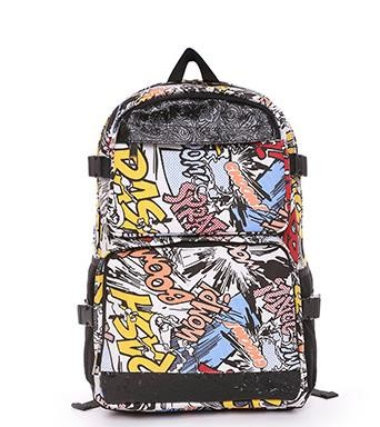 Harajuku Korean Women Cartoon Printing Canvas Backpack Teenage Girls Nylon Backpacks New Brand School Laptop Bag