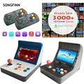 SONGFINN Retro Handheld Game Console 4.3 Inch Built-in 3000 Classic Games Support for NEOGEO/GBC/FC/CP1/CP2/GB/GBA/SNES/MD