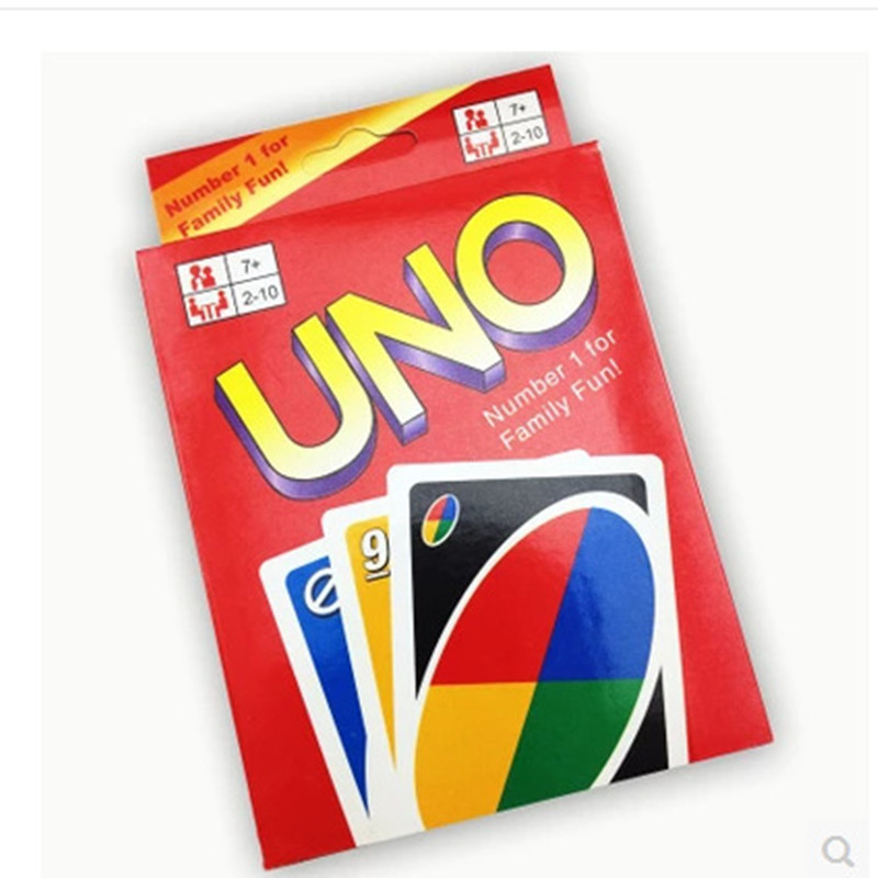 2016 World Player popular hot New UNO Card Game Playing Card Family Fun Updated Version