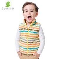 Svelte Brand Children Boys Girls Stripe Fleece Vest Kids Boy Girl Unisex Woolen Argyle Polar Fleese