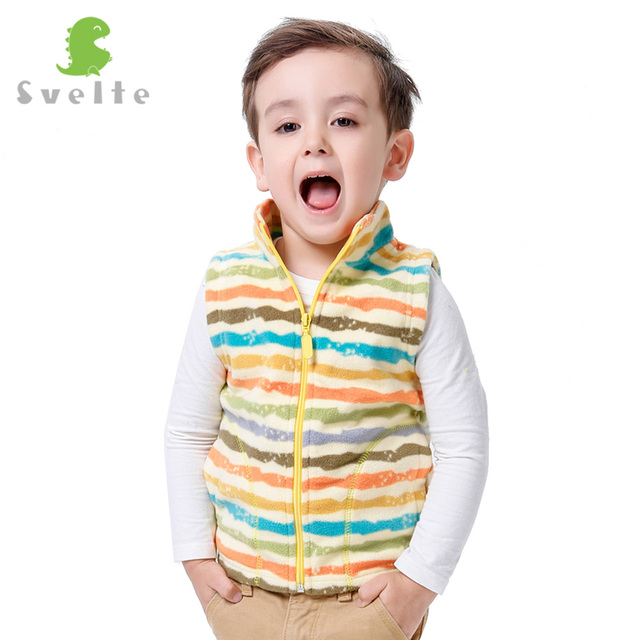 SVELTE fo'r Children Boys Girls Stripe Fleece Vest Kids Boy Girl Unisex Woolen Argyle Polar Fleese Waistcoat for Autumn Winter