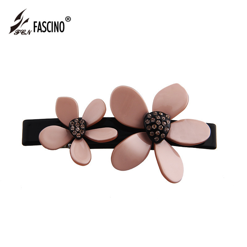 2018 New Fashion Rhinestone Flower Hair Clip Barrette Hairpin Headwear Accessories  Jewelry For Woman Girls Wedding Party Gift-in Hair Jewelry from Jewelry ... 165cf315fdce