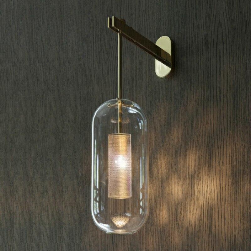 Italie Conception Mur Scone luminaire Noir/Or Chambre Lampe De Chevet lumière miroir Décoration de La Maison mur lampes intérieur moderne Salle De Bains