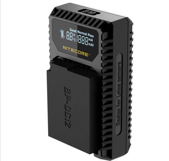 nitecore ULQ Digital USB Travel Charger For Leica BP DC12 Batteries Q Typ 116 V Lux