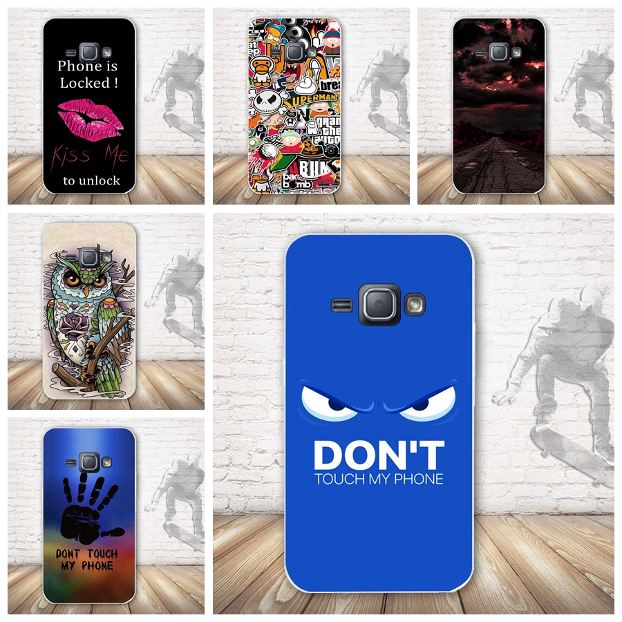 For Coque Samsung J1 2016 Case Soft TPU Cover Case for Fundas Samsung Galaxy J1 2016 J120F SM-j120f/ds Silicon 3D Skin Covers