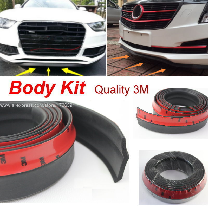 For Cadillac BLS ATS CTS CTS V DTS Car Bumper Lips Spoiler Body Kit Strip / Front Tapes / Body Chassis Side Protection