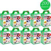 10-200 листов Fuji Fujifilm instax mini 9 8 с белыми краями, цветные пленки для камеры instax