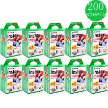 10 200 sheets Fuji Fujifilm instax mini 9 8 white Edge films Colour Fims for instax camera