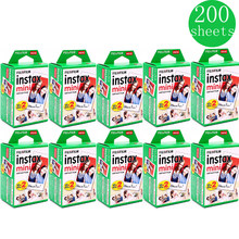 10-200 sheets Fuji Fujifilm instax mini 9 8 white Edge films Colour Fims for instax camera(China)