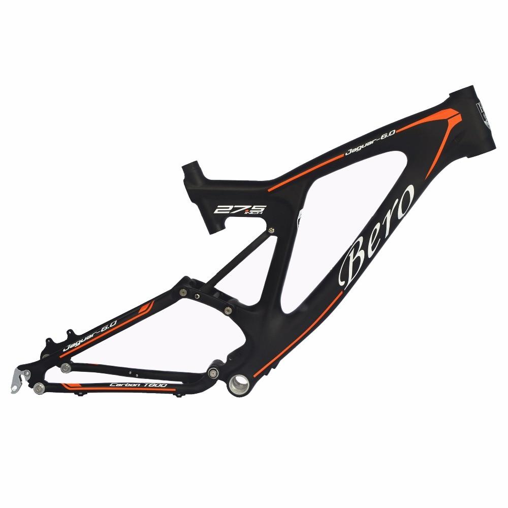 BEIOU Downhill Dual Suspension 3K Carbon Mountain Bike Frame DW-LINK 27.5-Inch Matte Black Unibody MTB FMB022A18Y