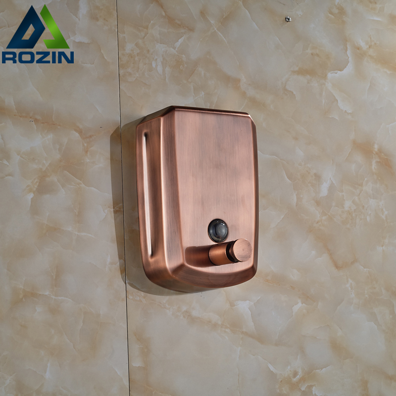 Free Shipping Wholesale And Retail Wall Mounted Antique Brass Liquid Soap Dispenser 800ml Soap Box цена 2017