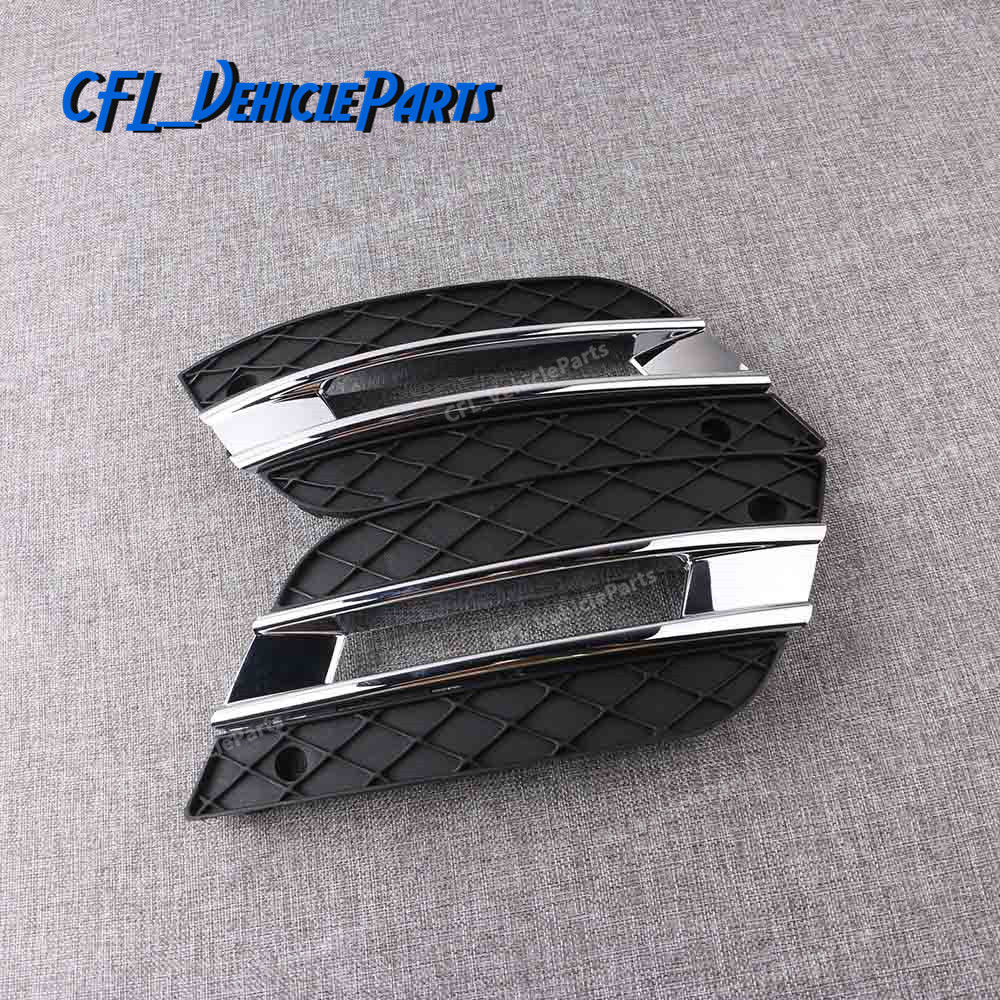 Pair DRL Light Lamp Cover Front Bumper Grille 1648801924 1648802024 For Mercedes-Benz ML350 ML450 2009 2010 2011(China)