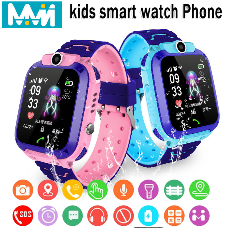 Childs Smart Watch IPX7 Waterproof Smart watch Touch Screen SOS Phone Call Device Location Tracker Kids Safe Anti-Lost Monitor