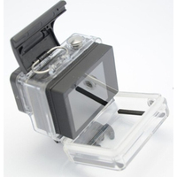 Professional 60M Underwater Bacpac LCD Battery Version Waterproof Housing Case For GoPro Hero 4 3 Plus