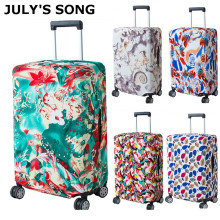 JULY'S SONG Women's Men's Travel Luggage Cover Fashion Trolley Suitcase Protect Dust Bag Case Travel Accessories Supplies