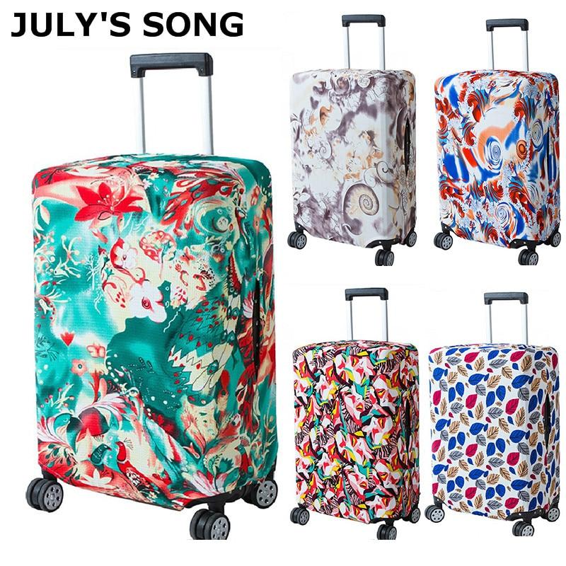 JULY'S SONG frauen Männer Reise Gepäck Abdeckung Mode Trolley Koffer Schützen Staub Tasche Fall Reise Zubehör Liefert