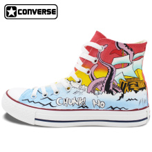 Octopus Unique Converse Chuck Taylor Chunk! No, Captain Chunk Design Hand Painted Shoes Custom Canvas Sneakers Man Woman