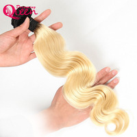 1b 613 Body Wave Ombre Brazilian Human Hair Weave Ombre Human Hair Extension Dreaming Queen Hair No Remy Blonde Hair Bundles