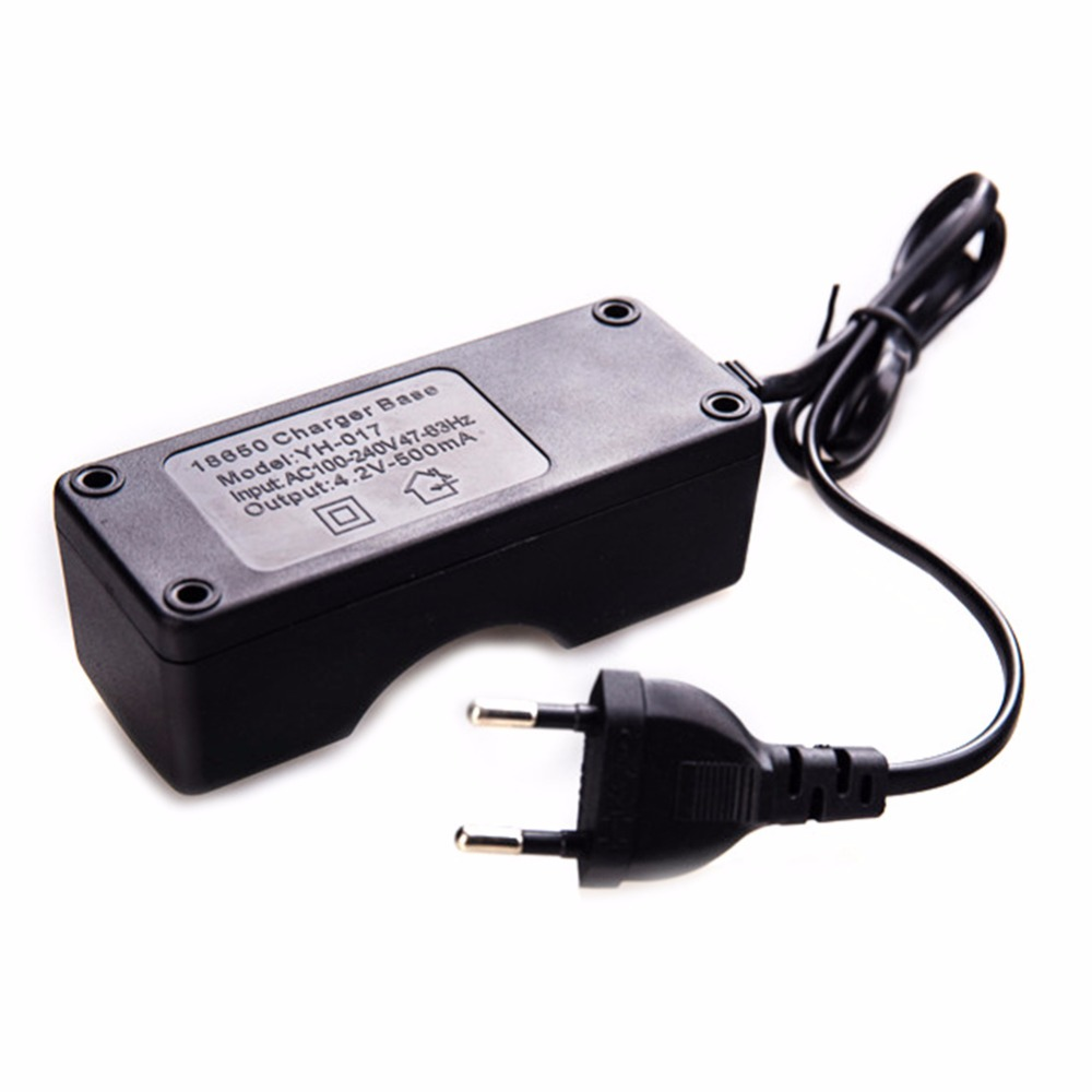 Universal Single Slot Battery Charger 18650 Li-ion Batteries One Lithium Smart Charging Rechargeable AA AAA With Cables EU Plug