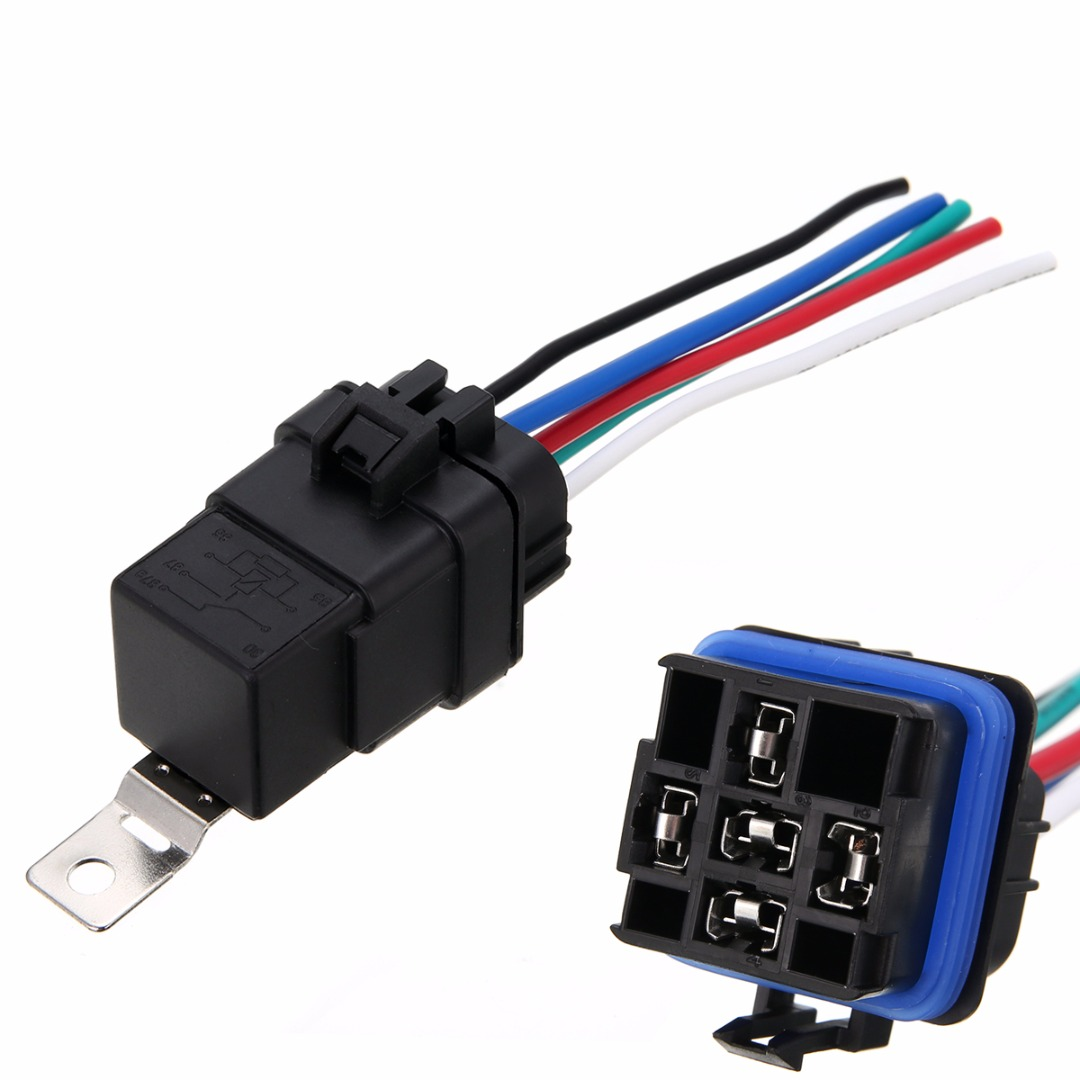 1 Set Practical Automotive Relay Waterproof Integrated Wired Auto Relay 12v 40A 5 Pin + Holder With Wires For Refitting mukhzeer mohamad shahimin and kang nan khor integrated waveguide for biosensor application