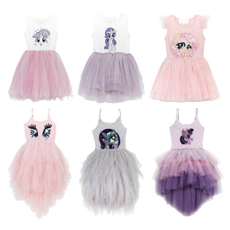 19SS robe licorne pour filles TUTU robes nouveauté bébé fille vêtements filles vêtements robes de princesse pour filles enfants vêtements