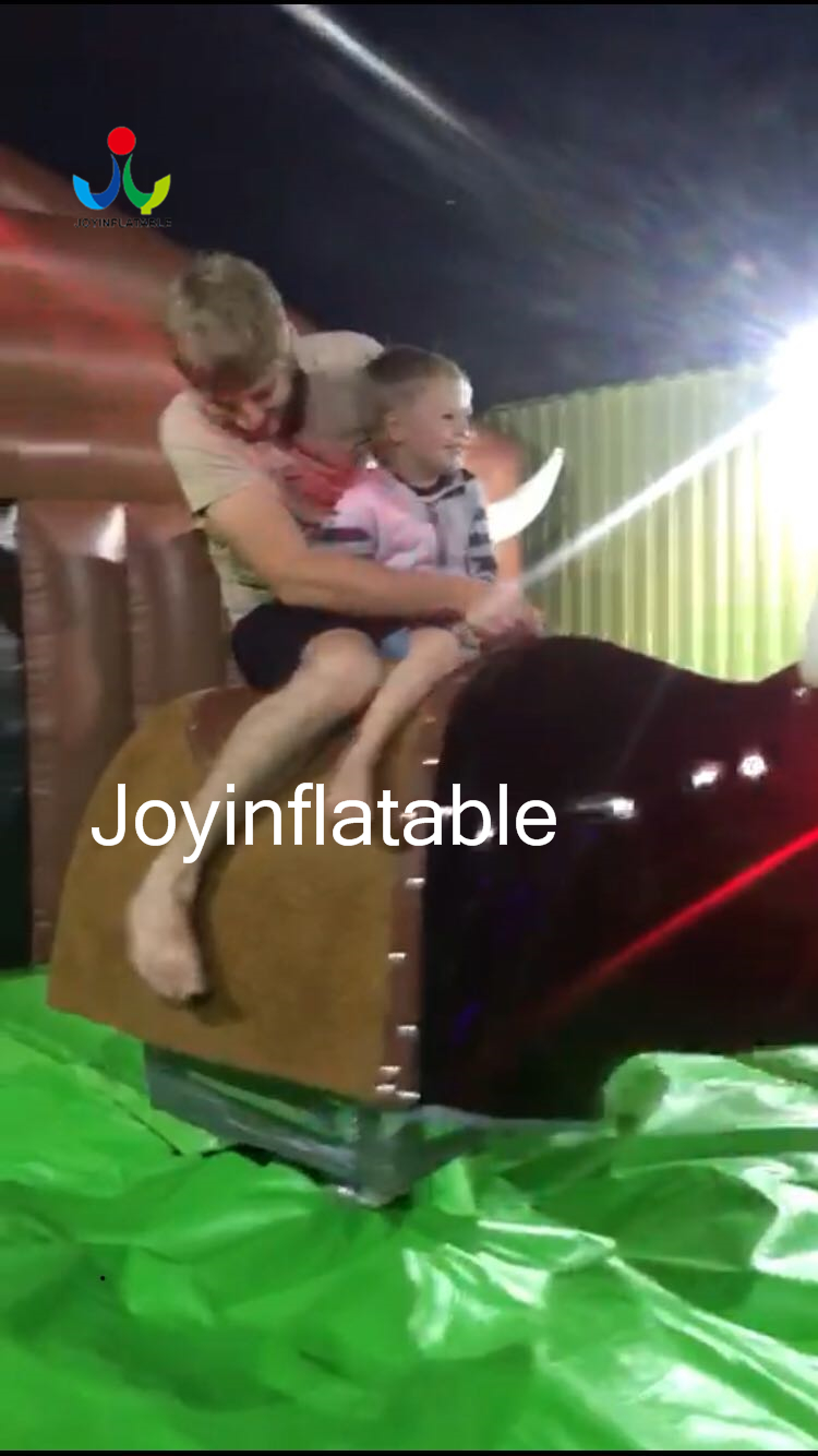 55M Inflatable Mechanical Bull Riding with Inflatable Safe Mat Around 11