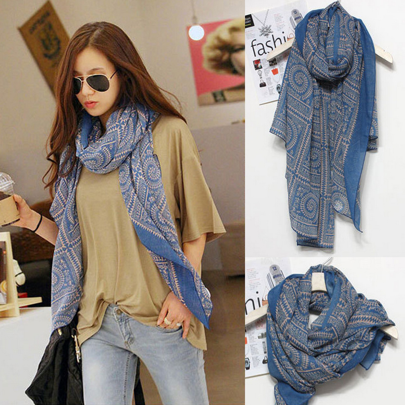2016 High Quality Womens Spring Fashion   Scarves   Women Scarfs Thin Long Georgette Silk Floss Shawl Stripe Print Shawls   Scarf     Wrap
