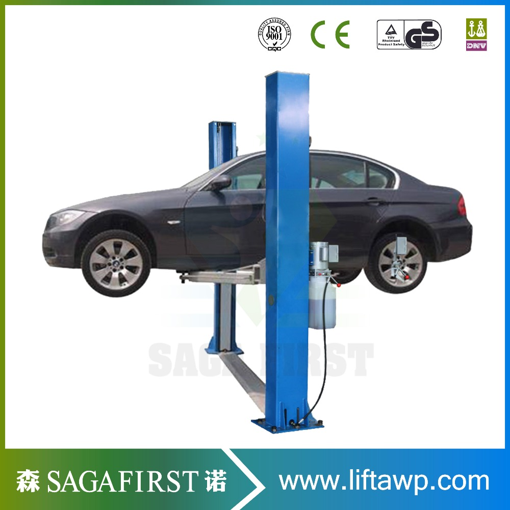 Ce Certificated Hydraulic Clear Floor Two Post Car Lift