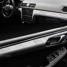 PVC Adhesive Vinyl Film Stickers For Outlet Auto Car Body, Internal Door Interior Decoration Imitation Marble Ceramics