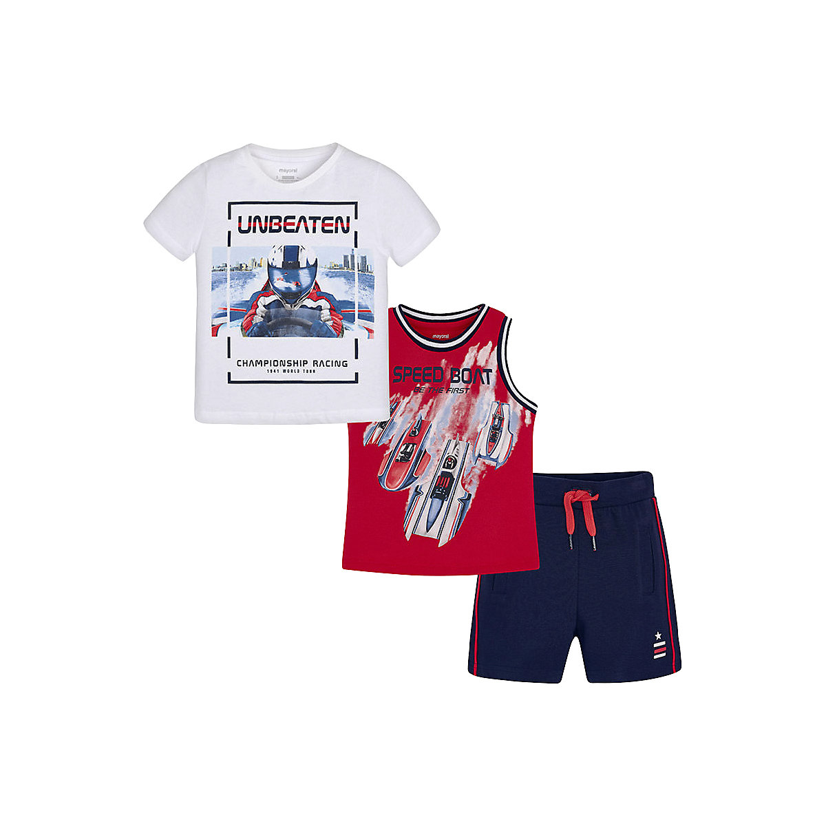 Children's Sets MAYORAL 10678594 Set Of Clothes For Kids Breeches T-shirt Legs Shirt Shorts Girls And Boys