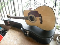 Free Shipping D Classic Acoustic Guitar Dreadnought Guitar Natural Solid Spruce TOP With Fishman EQ And