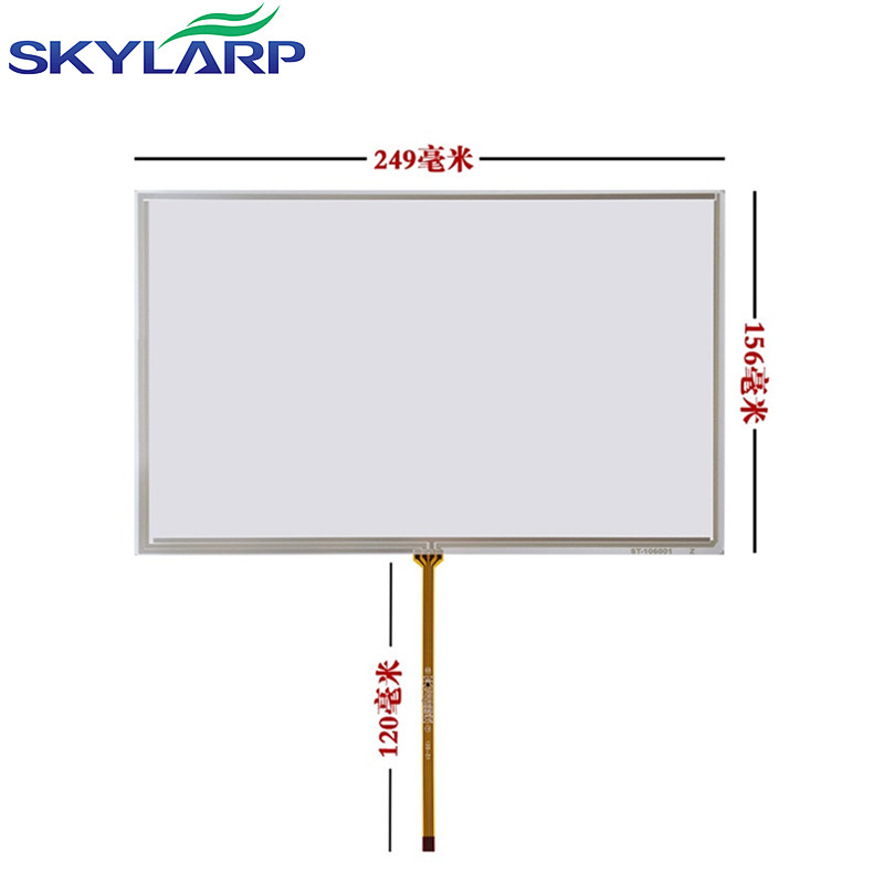 Skylarpu 10.6 ''polegadas 4 fios Tela Sensível Ao Toque para mitsubishi AA106TA01-DDA11 painel da Tela de Toque da Resistência de Vidro de 249mm * 156mm