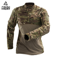 New Arrival Tactical Camouflage Military Uniform Frog Suit Men's US Army Combat Shirt Assault Camo Long Sleeve Airsoft T Shirt