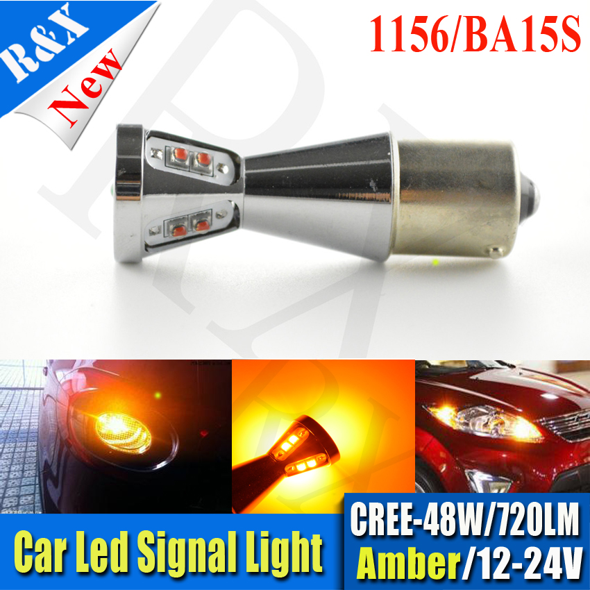 1pcs 1156 led ba15s 25w XBD Chip White/Amber/Red High Power CANBUS 48W 960LM Tail Brake Backup Reverse Led Bulb Light Lamp ruiandsion 2x75w 900lm 15smd xbd chips red error free 1156 ba15s p21w led backup revers light canbus 12 24vdc
