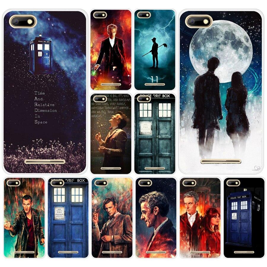 Active 294df Tardis Box Doctor Who Hard Transparent Tpu Silicone Case Cover For Bq Strike 5020 Bq Aquaris X X5 Plus Phone Bags & Cases
