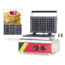 Commercial square waffle machine stainless steel rectangle-shaped waffle maker with 3 pcs waffle moulds