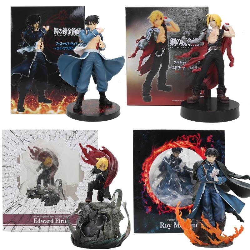 Anime Fullmetal Alchemist Edward Elric Figures, Mainan Roy Mustang Artfx J 1/8 Dicat Api Alchemist Sosok Model PVC Mainan Hadiah