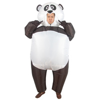 Purim Panda Inflatable Costumes for Woman Inflatable Panda Mascot Costume Blow Up Fatsuit Animal Adult Fancy Dress Party