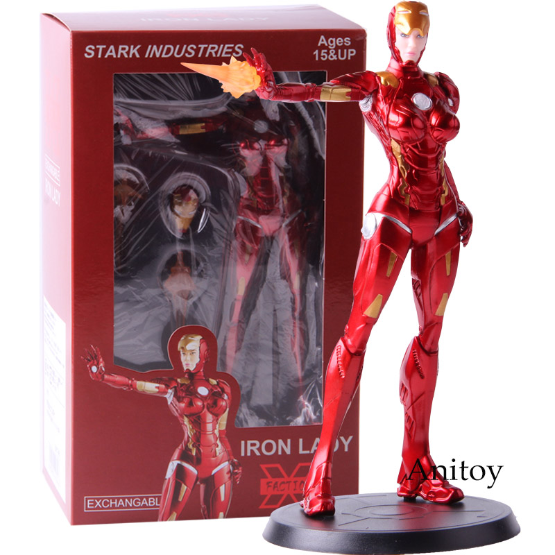Action Figure Iron Man Stark Industries Iron Lady Pepper Potts PVC Collectible Model Toy