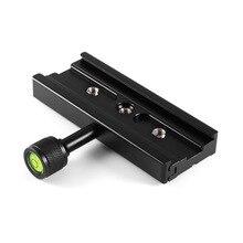 """Adaptador de abrazadera de aleación de aluminio QR120 120mm 1/4 """"a 3/8"""" para placa de liberación rápida para trípode de Arca SWISS para accesorios de cámara DSLR"""