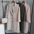 2017 NEW Women'S Coat Korean Version Casual Long Ladies Woolen Coat Fashion Brand Design Spring Women'S Jacket Coat Women