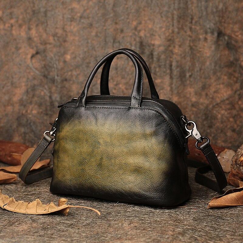 Jesień ostatnie Messenger torby torebka dla kobiet na ramię torebka 2019 Handmade naturalne skórzana poduszka torebki kobiet w Torebki na ramię od Bagaże i torby na  Grupa 2