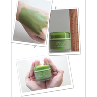 Matcha Mud Facial Mask Cream Whitening Anti-Aging Blackhead Remover Acne Treatment Deep Cleaning Oil-Control Moisturizing 5