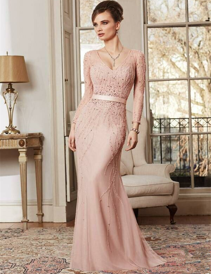 Popular Evening Long Sleeves Dresses-Buy Cheap Evening Long ...