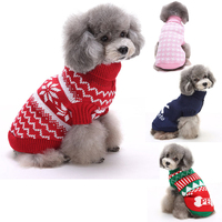 Christmas New Arrival Dog For Clothes Winter Christmas For Small Goods Pet Warm Elk Snowflake Sweater Halloween Dogs Coats Jacke