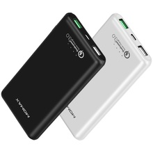 MOMAX IP60 QC 3.0 Quick Charger Power Bank Dual USB 10000mAh Power Bank with QC3.0 Output